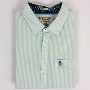 Original Penguin Textured Slim Short Sleeve Shirt